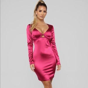 Magenta mini dress